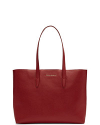 Dolce And Gabbana Red Dauphine Shopping Tote
