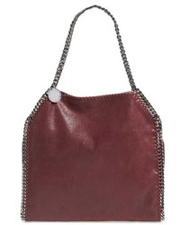 Stella McCartney Small Falabella Shaggy Deer Faux Leather Tote Purple