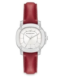 Burberry Britain Britain Stainless Steel Leather Strap Watchred