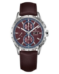 Hamilton Broadway Automatic Chronograph Leather Strap Watch