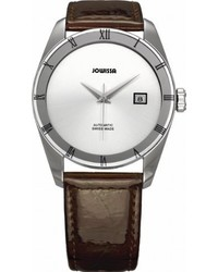 Jowissa Unisex J4062l Monte Carlo Stainless Steel Burgundy Leather Automatic Date Watch