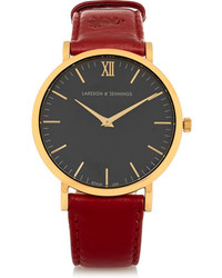 Larsson & Jennings Lder Leather And Gold Plated Watch