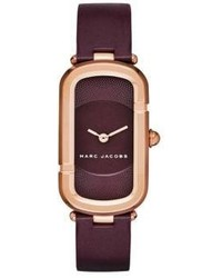 Marc Jacobs Monogram Rose Goldtone Stainless Steel Leather Strap Watch