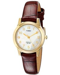 Timex T21693 Elevated Classics Dress Burgundy Leather Strap Watch