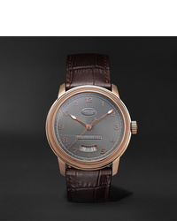 Parmigiani Fleurier Toric Automatic Chronometer 408mm 18 Karat Red Gold And Alligator Watch
