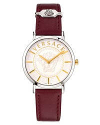 Versace V Essential Leather Watch