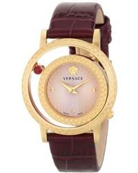 Versace Vda020014 Venus Analog Display Quartz Purple Watch