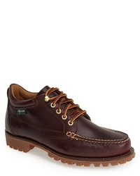 Burgundy Leather Work Boots