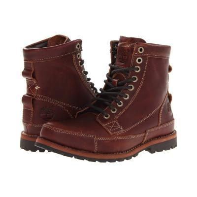Earthkeepers Rugged Original Leather 6 Boot Lace Up Boots Red Brown Distressed