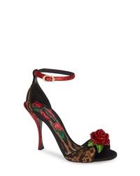Dolce & Gabbana Rose Leopard Sandal