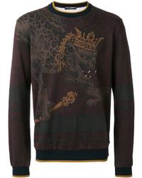 Dolce & Gabbana Crowned Leopard Sweatshirt