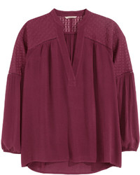 Burgundy long sleeve blouse original 10018687