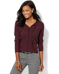 New York & Co. Colorblock Tie Front Blouse