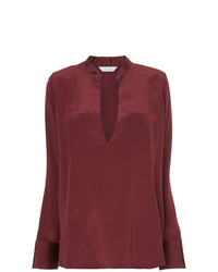 Kacey Devlin Tapered Deep V Neck Blouse