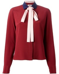 Valentino Contrast Pussy Bow Blouse