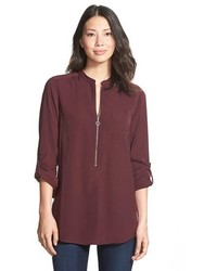 Zip front blouse medium 352514