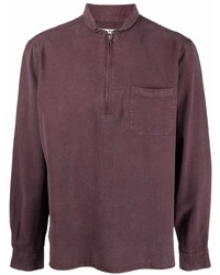 Our Legacy Band Collar Zip Up Shirt
