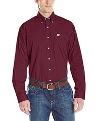 Cinch Classic Fit Long Sleeve Button One Open Pocket Solid Basic