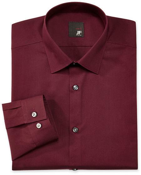 Burgundy long sleeve shirt jcpenney jf jferrar jf j for J ferrar military shirt