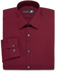 JF J.Ferrar Jf J Ferrar Long Sleeve Easy Care Solid Dress Shirt Big Tall