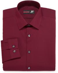 JF J.Ferrar Jf J Ferrar Long Sleeve Easy Care Solid Dress Shirt