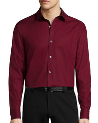 Claiborne Long Sleeve Solid Button Front Shirt