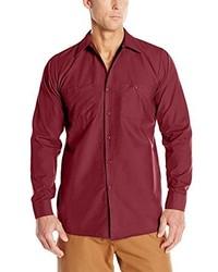 Red kap long sleeve industrial work shirt medium 3663479