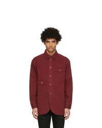 Han Kjobenhavn Red Twill Army Shirt