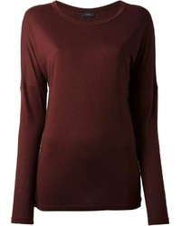 Burgundy Long Sleeve T-shirts for Women | Women's Fashion
