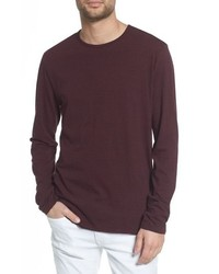 Vince Stripe Long Sleeve Crewneck T Shirt