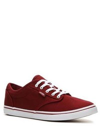 Burgundy Low Top Sneakers