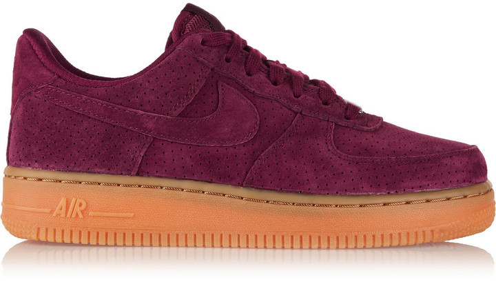 watch 7b157 a066e COM › Nike › Burgundy Low Top Sneakers Nike Air Force 1 07 Suede Sneakers