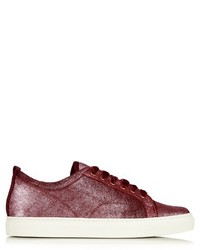 Lanvin Metallic Leather Low Top Trainers