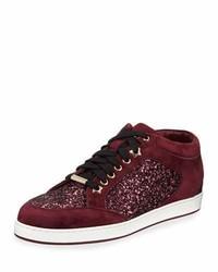 Jimmy Choo Miami Glitter Low Top Sneaker
