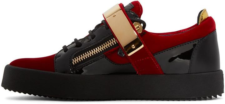 594e96f09756 Giuseppe Zanotti Red Velvet London Sneakers