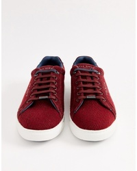 Ted Baker Werill Trainers In Burgundy