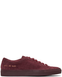 Woman by common projects burgundy original achilles sneakers medium 847020