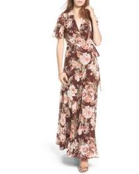 Plaza wrap maxi dress medium 5209391
