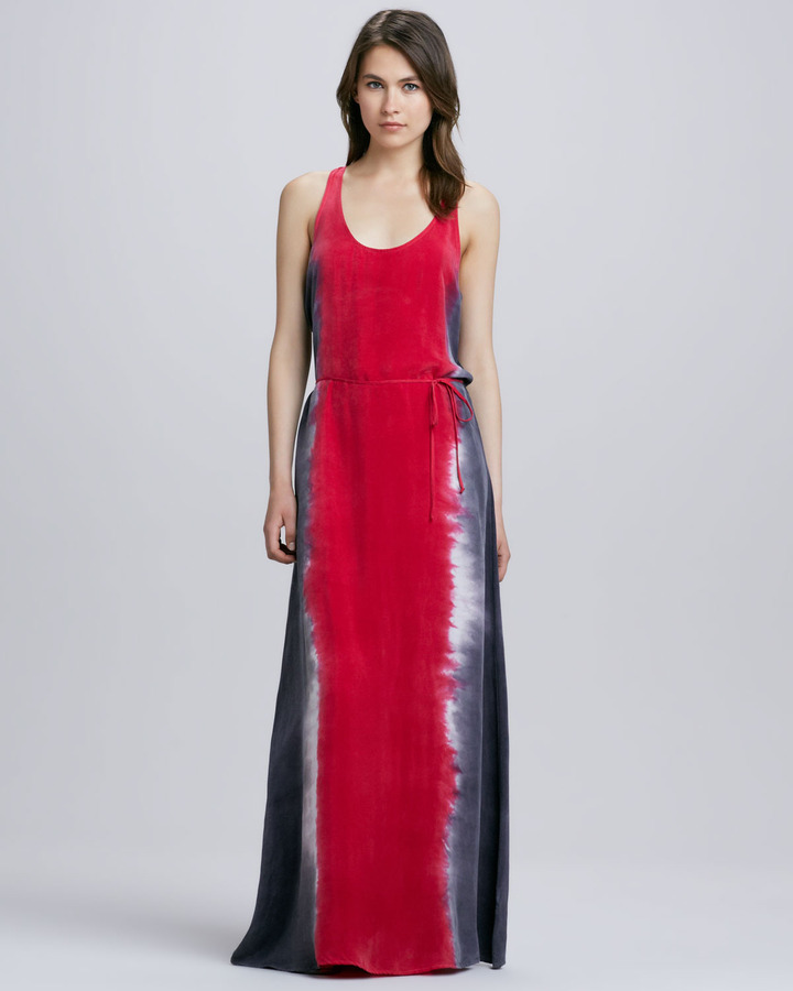 C&C California Tie Dye Maxi Tank Dress Ruby Red | Where to buy ...
