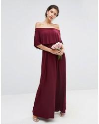 67b6a2d0a3cd ... Asos Wedding Off Shoulder Frill Maxi Dress ...