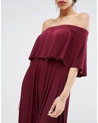 e155390339ae ... Asos Wedding Off Shoulder Frill Maxi Dress