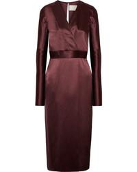 Burgundy midi dress original 9931254
