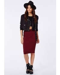 Burgundy midi skirt original 1470975