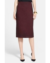 St. John Collection Wavy Stripe Knit Pencil Skirt