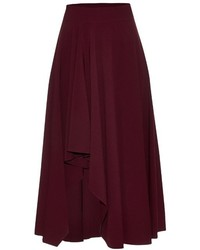 Alexander McQueen Fluted Crepe Midi Skirt