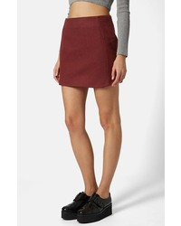 Burgundy mini skirt original 1459959