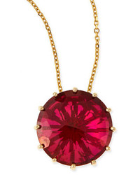 Kalan by suzanne kalan 12mm round red crimson topaz pendant necklace medium 156806