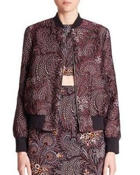 Suno Rib Neck Bomber Jacket