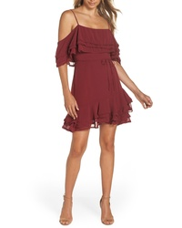 BB Dakota Up All Night Layered Cold Shoulder Dress