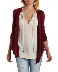 Charlotte Russe Shawl Collar Long Sleeve Cardigan